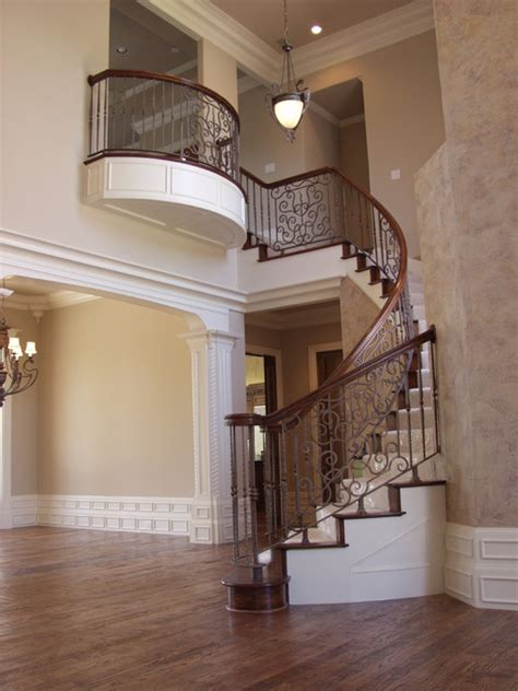 Wrought Iron Stair Parts Custom Wrought Iron Traditional Staircase Houston