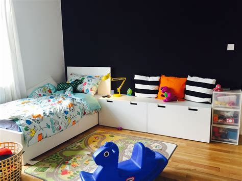 toddler bedrooms children s room ikea malm bed with stuva storage benches