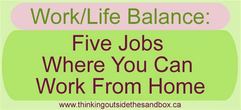 work balance 5 where you can work from home