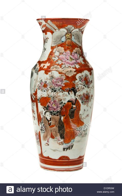 Painted Japanese Vase by Antique Japanese Painted Vase Stock Photo Royalty