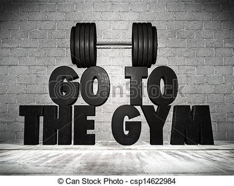 Home Gym Design Download stock illustration of go to the gym 3d render of a go to