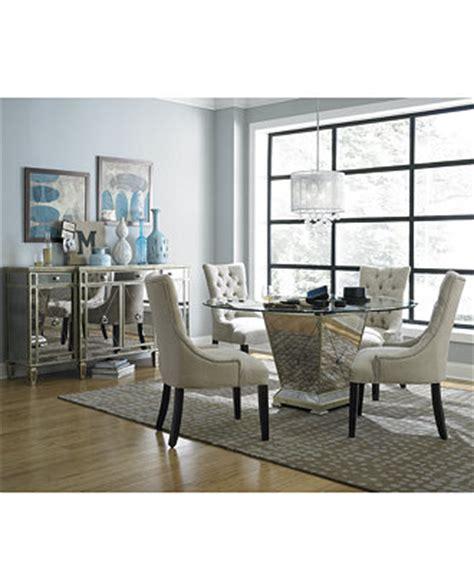 mirrored dining room furniture marais round dining room furniture collection mirrored