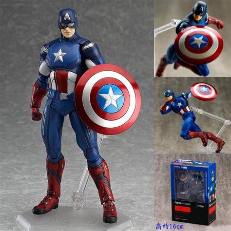 Daymart Toys Captain America Figure marvel the captain america figma 226 pvc figure collectible model 16cm kt915