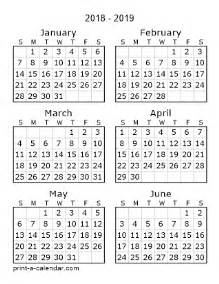 Calendar Through 2018 2018 Printable Calendars