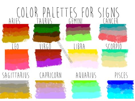 aquarius colors color palettes for zodiac signs by redhotchillipeppers on