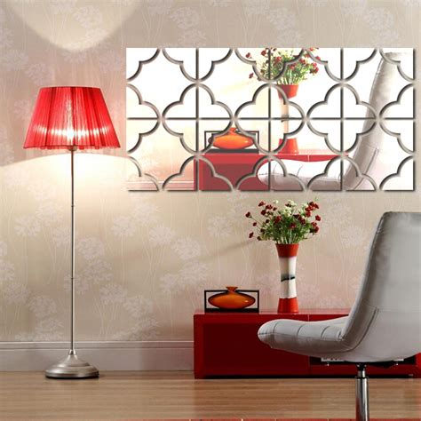 mirror wall stickers acrylic mirror wall stickers diy home decor 3d large