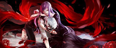 tokyo ghoul rize kaneki wallpaper hd images desktop anime