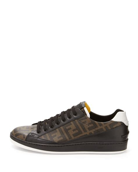 fendi sneakers mens fendi s zucca print low top sneaker in brown for