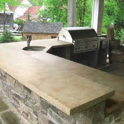 Outdoor Kitchen Countertops Concrete Countertops In Outdoor Kitchen Bussiness
