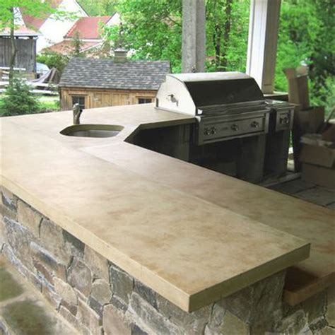Outdoor Kitchen Countertops Ideas by Concrete Countertops In Outdoor Kitchen Bussiness