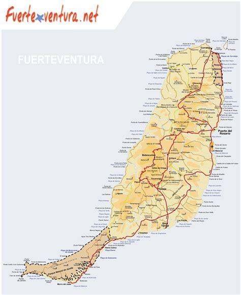 Printable Road Map Fuerteventura | fuerteventura map my blog