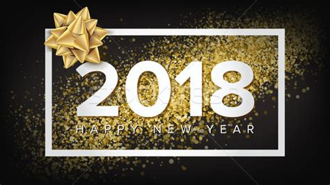 2018 new years cards templates 2018 new year poster vector realistic bow