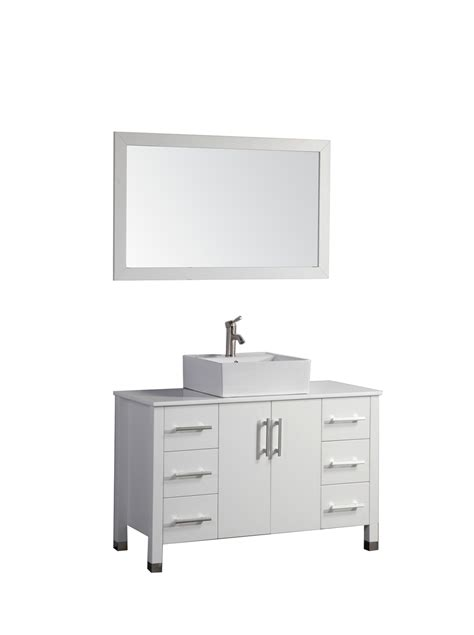 48 Inch Bathroom Vanity White Arida 48 Inch Modern White Single Sink Bathroom Vanity Set