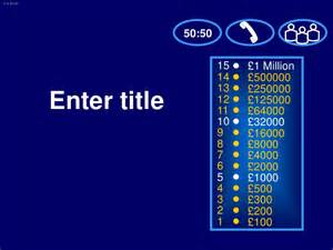 Who Wants To Be A Millionaire Template Powerpoint With Sound by Who Wants To Be A Millionaire Template
