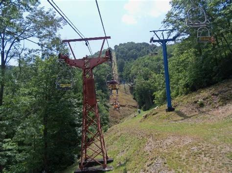 chair lift up the mountain side picture of ober