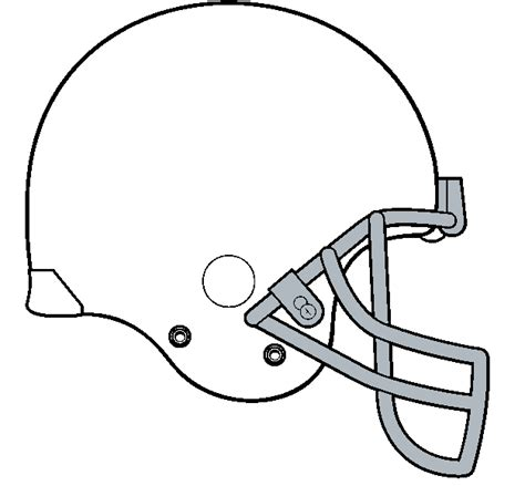 Football Helmet Outline Profile by Football Outline Template Cliparts Co