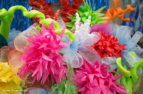 How To Make Coral Out Of Paper - how to make a coral reef decoration by press print