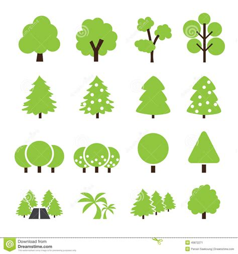 tree symbol tree icon stock vector image of abstract leaf ecology