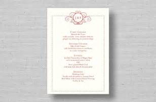 wedding menu card cake ideas and designs