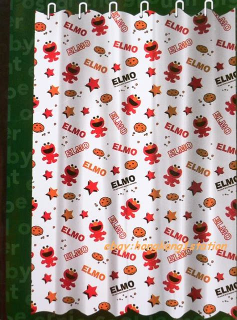 elmo curtains sesame street shower curtain furniture ideas