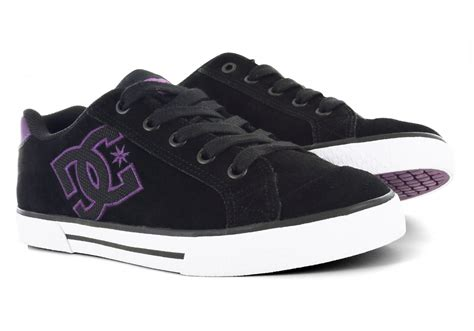 womens dc shoes chelsea sd skate black purple