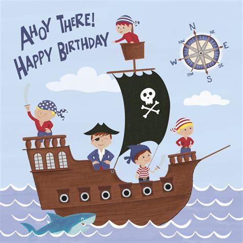 printable birthday cards pirate pirate fun birthday card dotcomgiftshop cards
