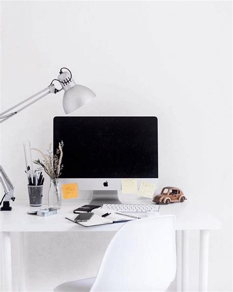 minimal desk minimal workplaces instagram account to inspire your desk