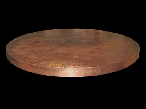 round copper table top custom copper products circle city copperworks