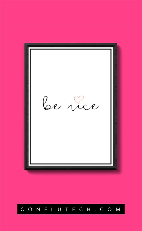 poster design nice be nice poster design free printables conflutech