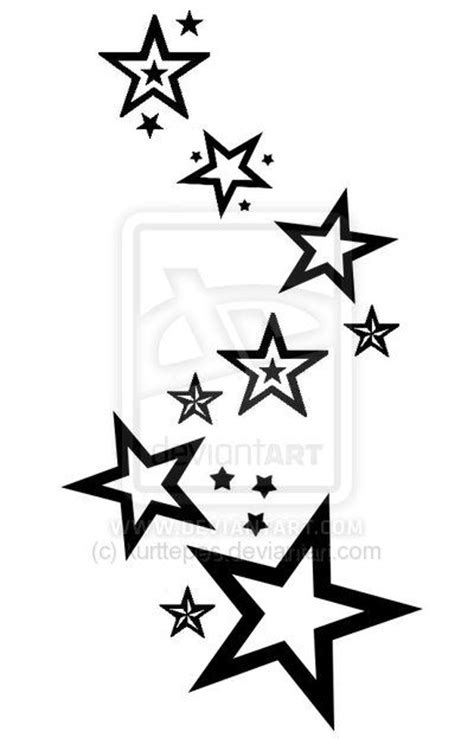 amazing star tattoo designs collection of 25 black outline shooting design