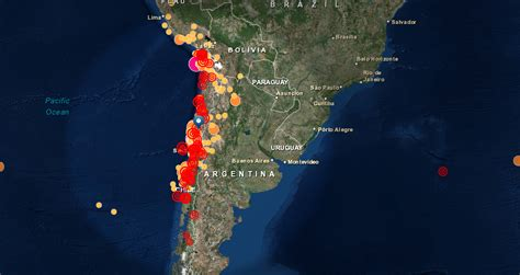 imagenes google earth terremoto chile crean mapa que permitir 225 ver en tiempo real sismos en chile