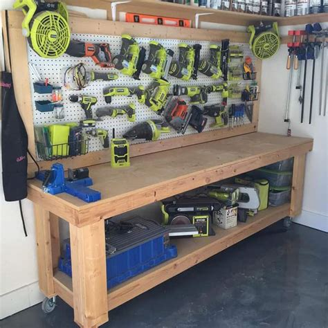 garage work table 50 clever organising and garage storage ideas for your home