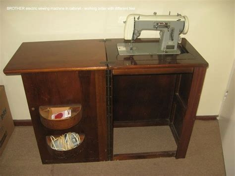 brother sewing machine cabinet brother in a cabinet sewing machine pinterest