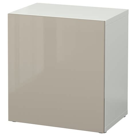 besta beige best 197 shelf unit with door white selsviken high gloss