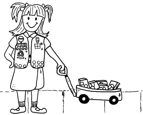 coloring page girl scout cookies girl scout cookie coloring page free