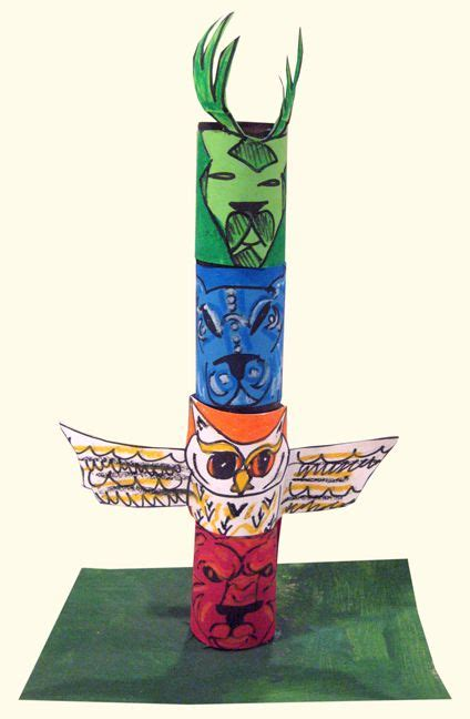 How To Make A Paper Totem Pole - 20 best cub scout totem poles images on totem