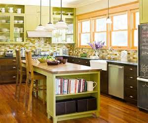 Green Kitchen Islands by Home Improvement Bhg Centsational Style