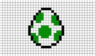 yoshi egg pixel art brik