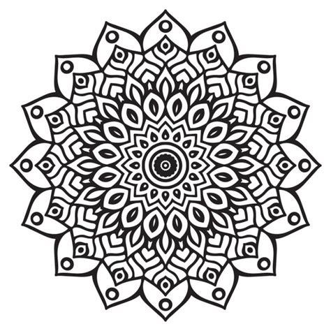 imagenes bonitas para dibujar en blanco y negro lindo mandala blanco y negro descargar vectores gratis