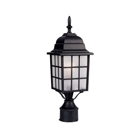 landscape lighting accessories acclaim lighting 1 light matte black outdoor post mount light fixture 5307bk the home