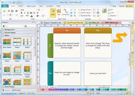 Business Matrix Template And Software Matrix Template