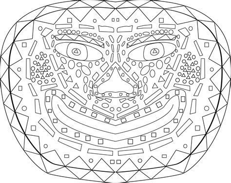 printable zulu mask 13 images of tribal mask coloring pages african tribal