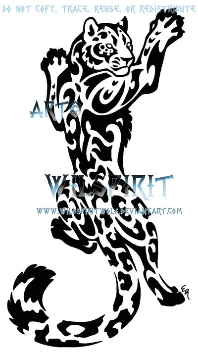 leopard tribal tattoo tribal leopard favourites by latanafox on deviantart