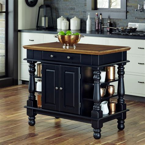 black kitchen island table home styles americana black kitchen island with storage 5082 94 the home depot