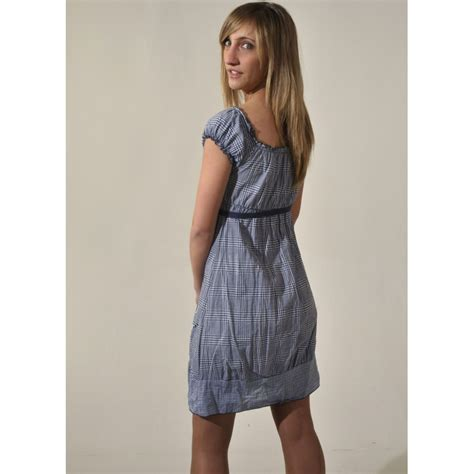 Square Cotton Italy dress with square neckline 100 cotton made in italy