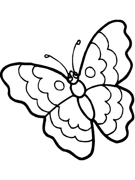Coloring Book Page Butterfly | free printable butterfly coloring pages for kids