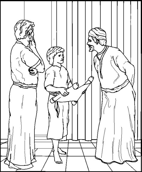 Coloring Pages Boy Jesus In The Temple | jesus in the temple coloring pages 3 pinterest