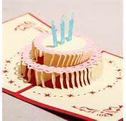 3D Happy Birthday Cake Handmade Creative Greeting &amp Gift