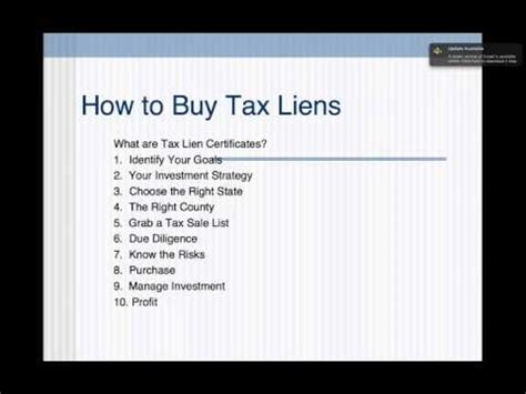 Tax Lien Records How To Buy Tax Liens And Tax Lien Certificates