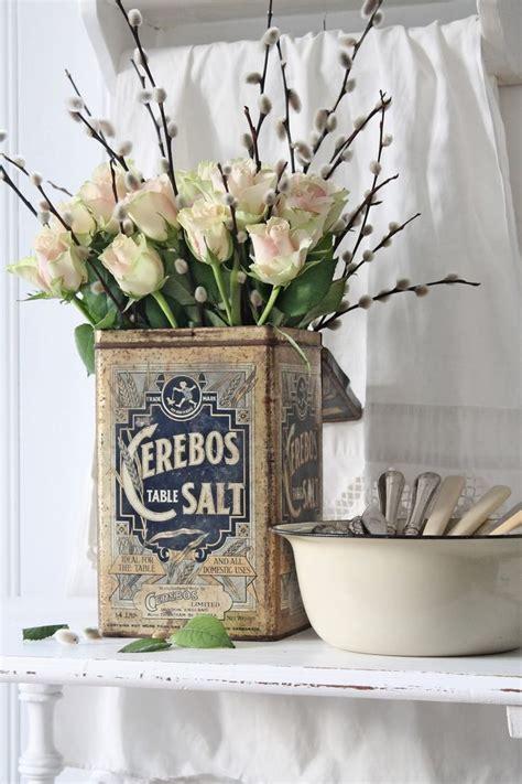 fiori shabby vaso di recupero per fiori shabby chic ideagroup